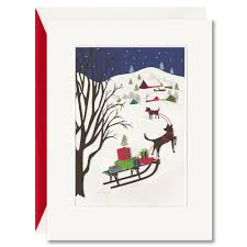 sled boxed greeting cards