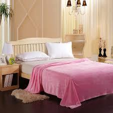 sofa bed pink pink color fleece blanket summer solid color super warm soft