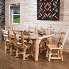 Log Dining Room Table Rustics White Cedar Log Dining Table