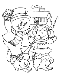snowman free christmas coloring pages kids christmas