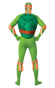 Michelangelo Ninja Turtle Halloween Costume Rubie U0027s Official Michelangelo 2nd Skin Costume Teenage Ninja
