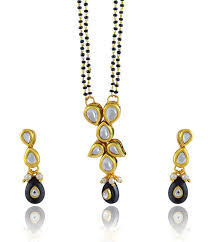 indian wedding mangalsutra buy kundan black 18 karat gold plated kundan ethnic indian wedding