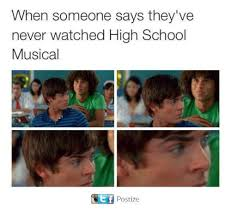 Meme High School - when someone says they ve never watched high school musical postize