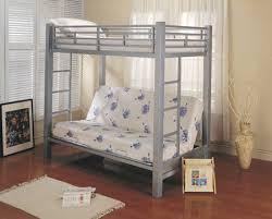 Futon Metal Bunk Bed Roboto Silver Big Lots Dominics Room - Futon mattress for bunk bed