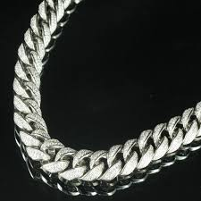 chain necklace diamond images Icy white simulated diamond 32in men epic miami cuban link chain jpg