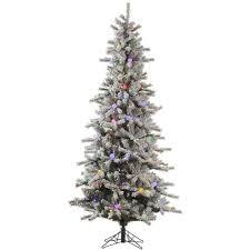 8 5 u0027 pre lit flocked sierra fir artificial christmas tree warm