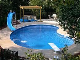 backyard inground pool landscaping ideas tropical waterfalls