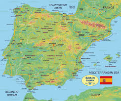Spain On The World Map by Badalona Map