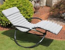 leco thick rocking chair cushion for garden lounger edition sun