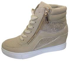 womens wedge ankle boots uk womens wedge trainers ankle boots sneakers high top