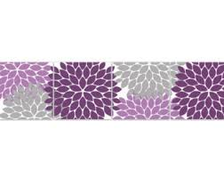 Purple Nursery Wall Decor Purple Bathroom Wall Decor Etsy