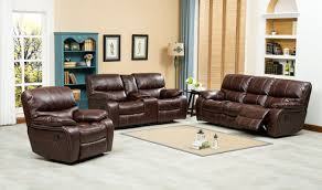 Living Room Set Furniture Roundhill Furniture Ewa 3 Piece Leather Living Room Set U0026 Reviews