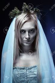 corpse bride halloween makeup portrait of beautiful zombie corpse bride looked scary and