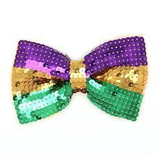 mardi gras bow sequin mardi gras bow tie clothing