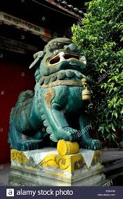fu dog statues for sale dan jing shan town china a large fu dog statue stands