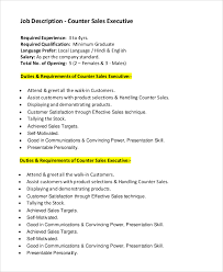 sample sales job description 10 examples in pdf word
