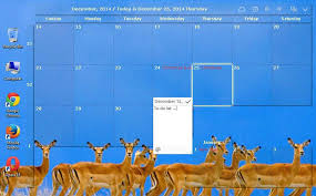 post it windows 7 bureau desktop calendar