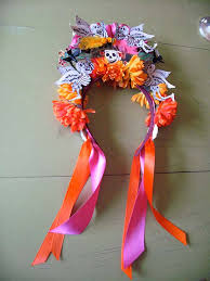 day of the dead headband dia de los muertos headband day of the dead headpiece flower