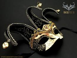 black and gold masquerade masks jolly jester masquerade mask black gold half masquerade