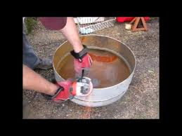 build a propane fire pit building a fire pit out of scrap propane tank youtube