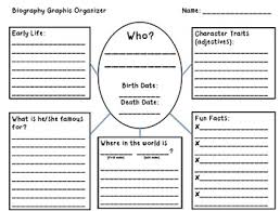 Biography Graphic Organizer Worksheets Free | biography graphic organizer elementary by jennifer caine tpt
