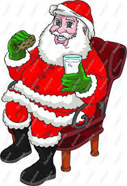 santa eating a cookie clip art christmas cookie clipart