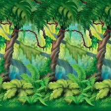 jungle backdrop jungle trees backdrop birthdayexpress