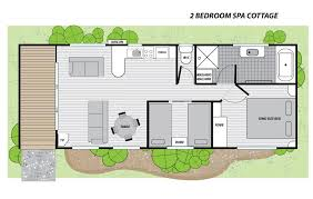 2 bedroom cottage floor plans two bedroom spa cottage in ballarat big4 ballarat goldfields