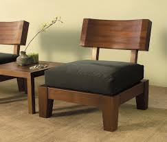 Modern Furniture Designs An Awesome Set Of Wood Zen Style Chairs With A Unique Table