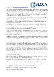 statut chambre de commerce le rôle d une chambre de commerce bilatérale