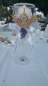 communion centerpiece ideas 1st communion centerpiece made by me and my decorations