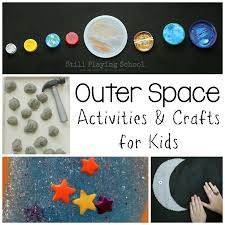 outer space activities for kids still playing