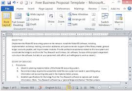 free business proposal template for microsoft word
