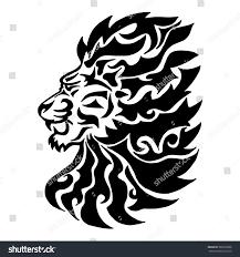 tattoo design lion illustration hand drawn tattoo lion on stock vector 569539966