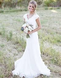 rustic lace weddingdresses cap sleeves long sheath weding gown
