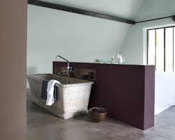 salle de bain ouverte sur chambre peinture salle de bain ouverte sur chambre couleur prune taupe