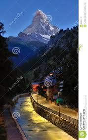 matterhornpiek in vroege ochtend in de zomer zermatt zwitserse