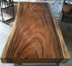 Acacia Wood Dining Table Live Edge Dining Table Acacia Wood Live Edge Reclaimed By Flowbkk