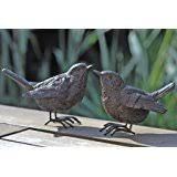 ornaments l02420040 bronze birds set of 3 co uk