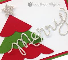 merry u0026 simple christmas card stampin u0027 pretty