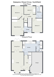 Floor Plan To Scale by Four Bedroom Detached House Balaams Wood Drive Northfield