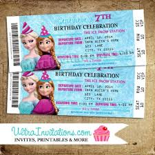 elsa u0026 anna frozen birthday invitations party custom personalized