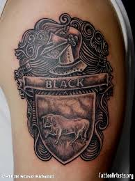 black family crest artists org tattoos