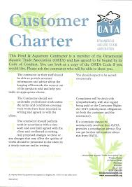 code of conduct green s aquatic services