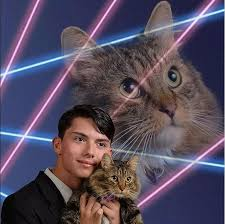 cat yearbook draven rodriguez viral laser cat yearbook photo