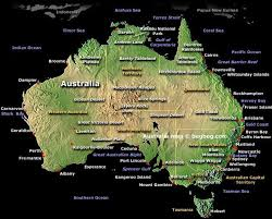 map of australia with cities and states australia map