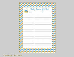 Thank You Cards For Baby Shower Gifts - crown baby shower gift list printable baby shower gift record