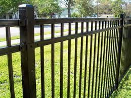 wrought iron ornamental iron flat top fence