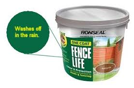 ronseal fence paint has washed off in the rain moneysavingexpert
