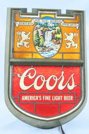 coors light bar sign vintage coors america s fine light beer sign electric